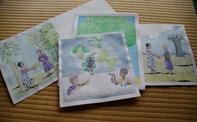 『ニョタのふしぎな音楽』絵かきさんイマンジャマさんの原画(1枚)& 同絵本1冊