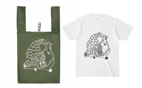 Rwanda  Ver. デザイナーTシャツ&エコバックのセット