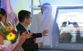 記念壁画に設置される記念プレートに名前が刻まれます。支援額によって字の大きさが異なります(中)