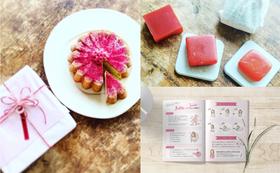 《大切な人に贈りたい》漢方栽培米糠 葉山のビーツ石けん+マーガレットケーキ+乳がんセルフチェックパンフレット