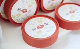 子どもにも安心。自然の甘みが味わえる椿茶コース
