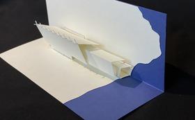 邦久庵の「折り紙建築」キット+邦久庵ポストカード+邦久庵トーク冊子+お礼のお手紙をお送りします