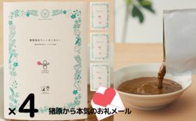 ●追加●薬膳料理研究家ヤマグチヒロさんの添加物フリー「薬膳温活ヴィーガンカレー4箱」と「猪原からの本気の御礼メール」