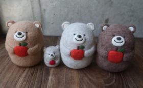 【限定3点】日本人作家さんが作る「おおきな」クマさんフェルト