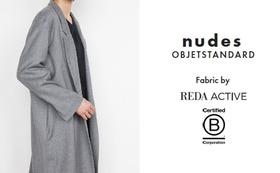 nudes - OBJETSTANDARD スマートフランネルロングジャケット