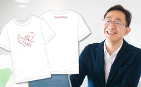 【個人】記念Tシャツ(白色)贈呈&御礼メッセージ動画