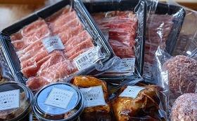 おかやま甘ぃ~豚の煮豚×2個、ローストポーク、ハンバーグ×2個、ロース、バラ、モモ