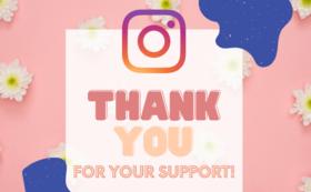 感謝のメール・HP/Instagramにスポンサーとして掲載(希望される方)