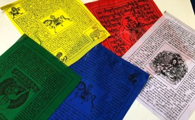 チベットの旗ルンタをお届けします。