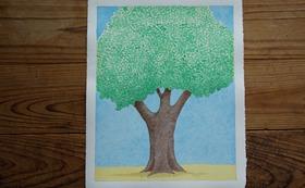 『ニョタのふしぎな音楽』絵かきさんイマンジャマさんの原画(木)& 絵本1冊 (+DVD)