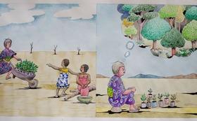 『ニョタのふしぎな音楽』絵かきさんイマンジャマさんの原画(苗)& 絵本2冊 (+DVD)