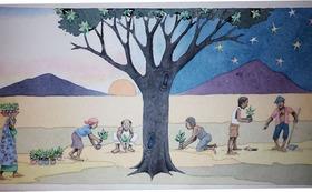 『ニョタのふしぎな音楽』絵かきさんイマンジャマさんの原画(秘密の場所)& 絵本2冊 (+DVD)