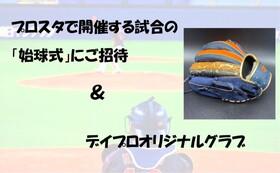 【限定2名様】【プロスタで始球式&デイプロオリジナルグラブ】プラン