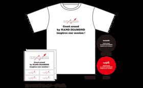 ご返礼品/KR'Zナノダイヤモンドケーブル オリジナルTシャツ1枚 & ステッカー2枚 & サンクスレター