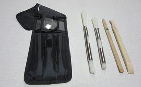ストレートハンドブラシ・ケース・ステンレスパイプ9.5mm/13mm・竹材スクレッパー、シロッコファン用脂取り棒