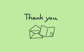 感謝のお手紙とカード1枚