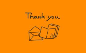 感謝のお手紙とカード1枚はがき2枚