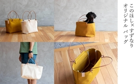 【このほしのオリジナルバッグ】野遊び道具がガバっと入るこのほしの帆布バッグです。日常使いにも最適。