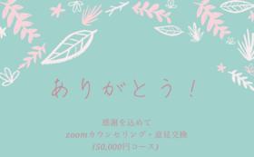 zoomカウンセリング・意見交換チケット付き(50,000円コース)