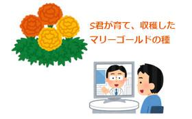 (お気持ち上乗せ)Sくんが育てた花の種 + オンライン講習会 コース
