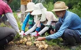 農園ご招待!収穫体験チケット(農園ランチお土産つき)2枚+併設古民家でハーブティー+活動報告