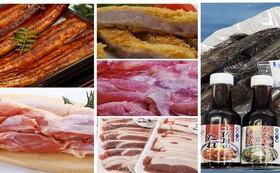 高知の特産品(うなぎ、はちきん地鶏、四万十ポーク、四万十鶏、猪肉、鰹タタキ)セット
