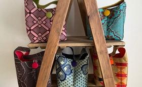 アフリカ布で作ったShibumiオリジナルバッグ(S)