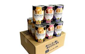 おいしくて柔らかい37か月長期保存可能な防災備蓄パン、アキモトのパン缶詰12缶セットをあなたのお手元にお届けいたします。