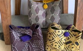アフリカ布で作ったShibumiオリジナルバッグ(M)
