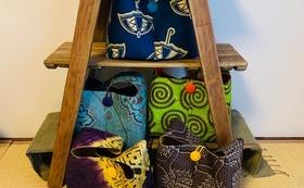 アフリカ布で作ったShibumiオリジナルバッグ(L)