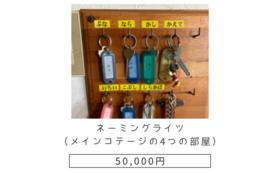 【ネーミングライツ(メインコテージの4つの部屋)】
