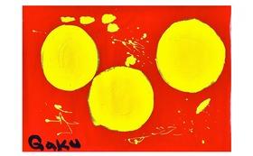 【原画ケント紙:Tripple Yellow】(フレーム付)+マグネット+画集本&CD