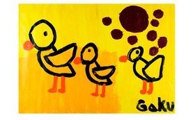【原画ケント紙:Orinal Chicks】(フレーム付)+マグネット+画集本&CD