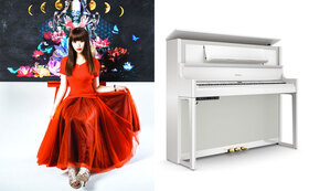 画家/壁画師・小林舞香があなたのリクエストで描く世界に1台のピアノ(LX708-PWS)