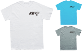 オリジナル『美作AF』左胸ロゴ入りTシャツ&ロゴステッカー ※イメージ画像です
