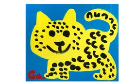 【キャンバスF20:Blue Cheetah】+マグネット+画集本&CD