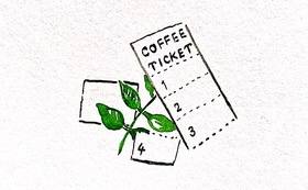 ai coffee お気持ち応援プランA(ドリンクチケット付)