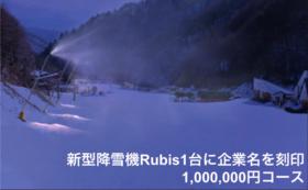 【企業/団体様向け】新型降雪機Rubis1台に企業名を刻印 1,000,000円コース