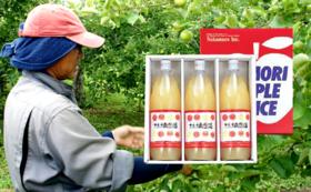 青森県産りんご100%ストレートジュース!【林檎生活コース】