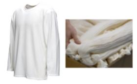 福井県の工場で糸から作られた和紙のロングTシャツ