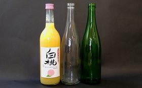 【クラウドファンド限定】白桃酵母とメロン酵母の純米吟醸生原酒720ml(各1本ずつ)+白桃のリキュール720ml