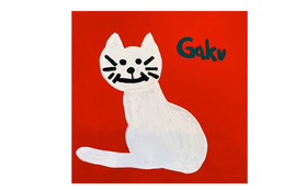 【キャンバスF20:Red Cat】+マグネット+画集本&CD