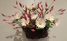 『パンの花(ターシャの庭)』(約30㎝×30㎝×高さ30㎝)視覚障害当事者が制作