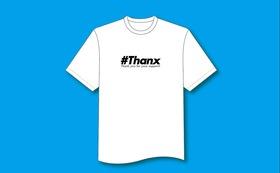 オリジナル#ThanxロゴTシャツ(黒)