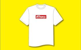 オリジナル#ThanxロゴTシャツ(赤)