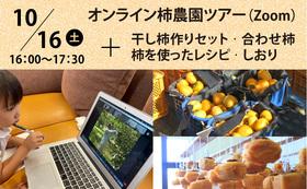 【福井県外の方向け】オンライン柿農園訪問ツアー〈Aコースギフト付き〉
