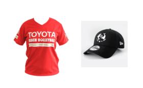 【ビーチバレー】西堀・溝江2選手サイン入りTシャツ(Fサイズ)・キャップコース