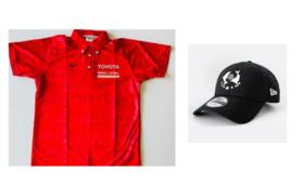 【ビーチバレー】白鳥・石島2選手サイン入りポロシャツ(Oサイズ)・キャップコース