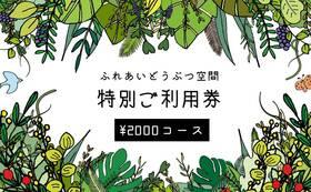 ふれあいどうぶつ空間特別ご利用券2000円分