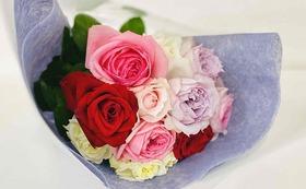 C バラの花束をお届けコース